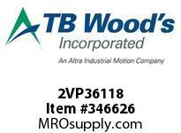 TBWOODS 2VP36118 2VP36X1 1/8 FHP ADJ SHV