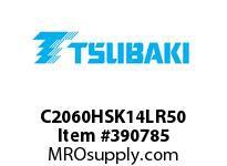 US Tsubaki C2060HSK14LR50 C2060H RIV 4L/SK-1 50FT