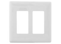 HBL_WDK NPS262W WALLPLATE 2G DEC SNAP-ON WHITE