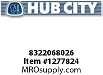 HubCity 8322068026 CONE BEARING 08118 OR EQ