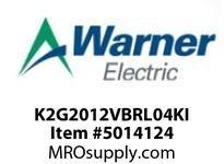 Warner Electric K2G2012VBRL04KI WL001BB045JBAA0010 K2G20-12V-BRL-04KI