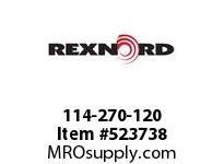 REXNORD 114-270-120 MATROD PP 1/4 X 120 6285691