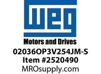 WEG 02036OP3V254JM-S 20HP 3600 3 60 200/400V Close C.-ODP