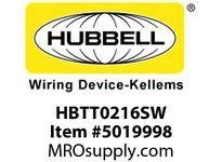 HBL_WDK HBTT0216SW WBPRFRM RADI T 2Hx16W PREGALVSTLWLL