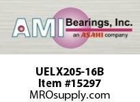 AMI UELX205-16B 1 WIDE ACCU-LOC BLACK 2-BOLT FLANGE FLANGE UNIT-BLACK