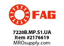 FAG 7220B.MP.S1.UA SINGLE ROW ANGULAR CONTACT BALL BEA
