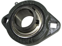 PTI FX203-11S 2-BOLT DUCTILE FLANGE BEARING-11/16 FX 200 SILVER SERIES - NORMAL DUTY