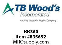 TBWOODS BB360 BB360 HEX V-BELT