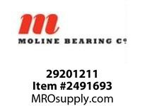 Moline Bearing 29201211 UCFLX14-43 2-11/16 MED DUTY 2-BOLT BALL BEARING