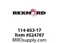 REXNORD 114-853-17 KU5996-9T 20MM IDLER NYL 142778