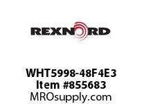 REXNORD WHT5998-48F4E3 WHT5998-48 F4 T3P WHT5998 48 INCH WIDE MATTOP CHAIN W