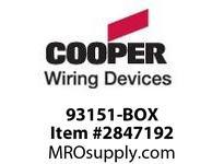 CPR-WDK 93151-BOX Wallplate 1G Blank Box Mount Std SS