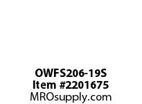 PTI OWFS206-19S 2-BOLT FLANGE BEARING-1-3/16 OWFS 200 SILVER SERIES - NORMAL DUT