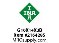 INA G10X14X3B Seal single lip