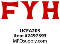 FYH UCFA203 17MM ND SS 2 BOLT ADJ.FLANGE UNIT