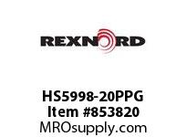 REXNORD HS5998-20PPG HS5998-20 PPG ROD HS5998 20 INCH WIDE MATTOP CHAIN WI