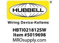 HBL_WDK HBTI021812SW WBPRFRM RADI INTER2Hx18W TO 12WSTLWLL