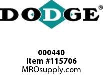 DODGE 000440 19KCP X 3-3/8^ FLUID CPLG-3535