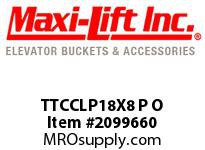 Maxi-Lift TTCCLP18X8 P O TIGER-CC LOW-PROFILE POLYETHYLENE ELEVATOR BUCKET