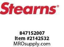 STEARNS 847152007 DET DRV HUB 3 IN T.B. C 8022507