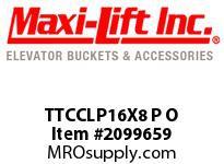 Maxi-Lift TTCCLP16X8 P O TIGER-CC LOW-PROFILE POLYEHTYLENE ELEVATOR BUCKET