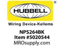 HBL_WDK NPS264BK WALLPLATE 4G DEC SNAP-ON BLACK