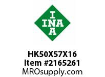 INA HK50X57X16 Drawn cup needle bearing