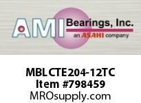 AMI MBLCTE204-12TC 3/4 STAINLESS NAR SET SCREW TEFLON SINGLE ROW BALL BEARING