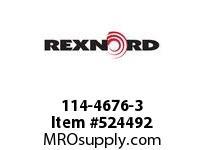 REXNORD 114-4676-3 KU8500-23T 1-1/2^ SQ UHMW 183591