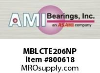 AMI MBLCTE206NP 30MM STAINLESS NAR SET SCREW NICKEL SINGLE ROW BALL BEARING