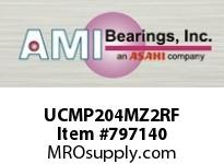 AMI UCMP204MZ2RF 20MM ZINC SET SCREW RF STAINLESS PI SINGLE ROW BALL BEARING
