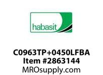 "Habasit C0963TP+0450LFBA 963 Bevel 4.5"" Top Plate Low Friction Acetal"