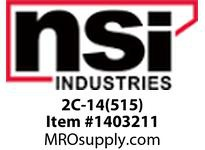 NSI 2C-14(515) 2-14 AWG 5 POSITION COPPER NEUTRAL BAR