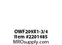 PTI OWF209X1-3/4 2-BOLT FLANGE BEARING-1-3/4 OWF 200 GOLD SERIES - NORMAL DUTY -
