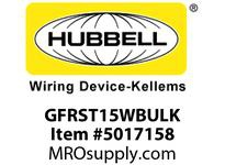HBL_WDK GFRST15WBULK 15A COM SELF TEST GFR WHITE BULK