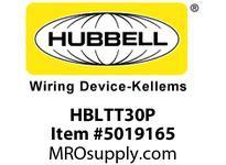 HBL_WDK HBLTT30P PLUG 2P3W 30A 125VNEMA TT-30PBK