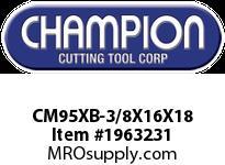 Champion CM95XB-3/8X16X18 SDS+HAMMER BIT 4 CUTTER 4 FLUTE