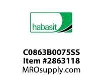 Habasit C0863B0075SS 863 Base Chain Stainless Steel