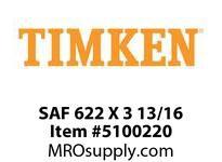 TIMKEN SAF 622 X 3 13/16 SRB Pillow Block Housing Only