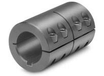 Climax Metal ISCC-037-037-KW 3/8^ X 3/8^ ID Stl Split w/Key Shaft Coupling