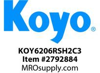 Koyo Bearing 6206RSH2C3 RADIAL BALL BEARING