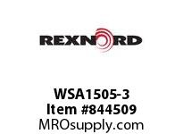 REXNORD WSA1505-3 WSA1505-3 MTW WSA1505 3 INCH WIDE MOLDED-TO-WIDTH