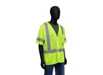 West Chester 47308/M Hi-Vis Lime Self Extinguishing Mesh Safety Vest