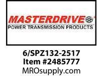 MasterDrive 6/SPZ132-2517 6 GROOVE SPZ SHEAVE