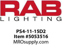 RAB PS4-11-15D2 Square Pole 15 ft High 2 Drile Holes