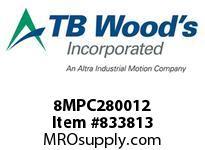 TBWOODS 8MPC280012 8MPC-2800-12 QTPCII BELT