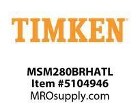 TIMKEN MSM280BRHATL Split CRB Housed Unit Assembly