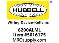 HBL_WDK 8200ALML HUBBELL-PRO HG DPLX 15A/125V LED AL