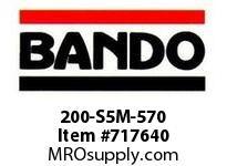 Bando 200-S5M-570 SYNCHRO-LINK STS TIMING BELT NUMBER OF TEETH: 114 WIDTH: 20 MILLIMETER