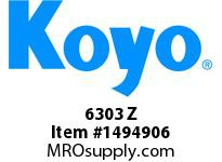 Koyo Bearing 6303 Z SINGLE ROW BALL BEARING
